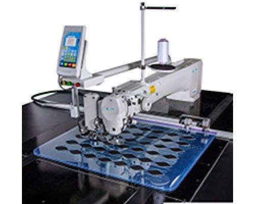 BSM  AM5-АН-К-800/-M5-800H-K Автоматизированная машина для стежки курток и других изделий с дополнительным механизмом ножа (прямой рез ножа).