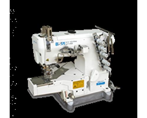 BSM -W122-356/CH-C1 Трехигольная пятиниточная плоскошовная швейная машина цепного стежка