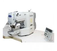 Автоматизированное решение для пришивания металлической этикетки на базе электронной закрепочной машины Brother KE-430