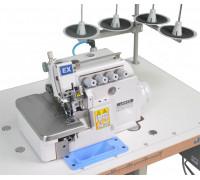 Оверлок 4-ниточный, прямой привод, с обрезкой ниток и сбором отходов JT-5214DKS