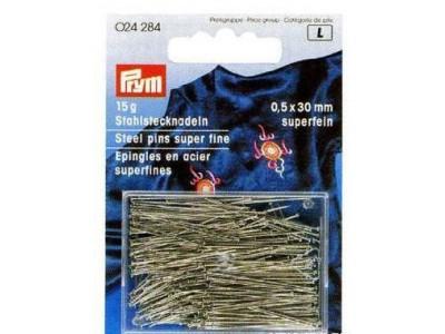 Булавки (сталь) 6 очень тонкие, для шелка и сатина серебристый цв. 0,50 x 30 мм Prym БС