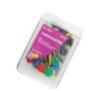 Декоративные булавки Donwei NS106, головки в форме цветов 0,6x48 мм, 80 шт