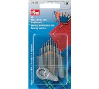 Иглы ручные Prym 128259 для шитья, вышивки и штопки с нитевдевателем (49шт.)