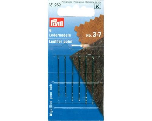 Иглы ручные Prym 131259 для кожи №3-7 (5шт.)