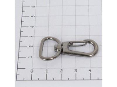 Карабин 20мм металл цв черный никель (уп 10шт) 6125