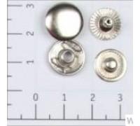 Кнопка L-12 цв никель сталь 12,5мм (уп 1440шт) К-21