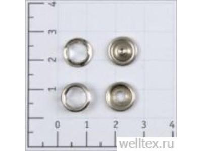 Кнопка рубашечная цв никель нерж 9,5мм кольцо (уп 1440шт) КР-06 СТРОНГ