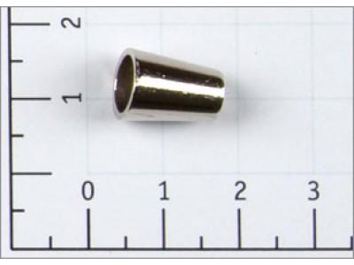 Концевик металл цв никель (уп 100шт) Ко-2