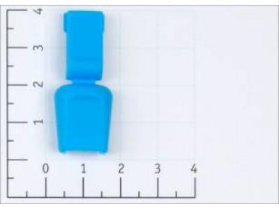 Концевик пластик 503-Д крокодильчик цв голубой (уп 100шт)