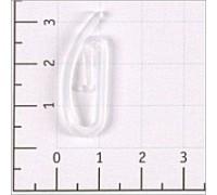 Крючок шторный цв прозрачный ПП (уп 1000,500шт)
