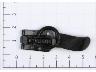 Крючок шубный цв черный кожаный (уп 50шт) Amii 10