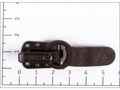 Крючок шубный цв коричневый темный кожаный (уп 50шт) Amii 9