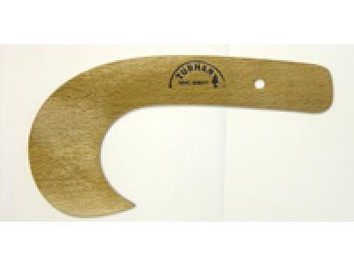 Лекало деревянное Крючок (полукапля)