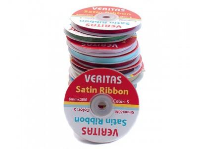 Лента атласная Veritas шир 6мм цв S-303 фиолетовый (уп 30м) Ширина