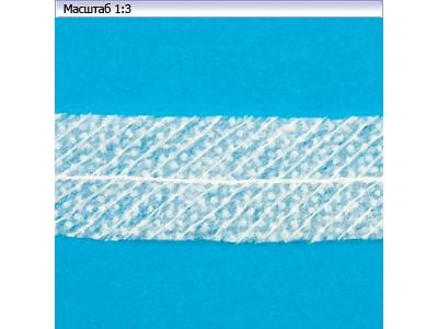 Лента нитепрошивная в пройму по косой 45г/м цв белый 15мм (рул 50м) Danelli LK4YP45 (WK-625 SL)