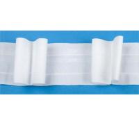 Лента тесьма шторная белая шир 60мм (рул 50м) C093