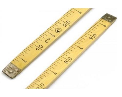 Метр деревянный с метрологической аттестацией Р