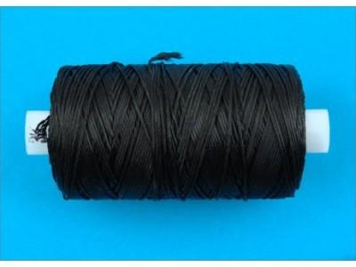 Нить обувная капроновая цв черный (боб 200м) 3К ТВ