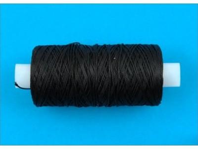 Нить обувная капроновая цв черный (боб 200м) 7К ТВ
