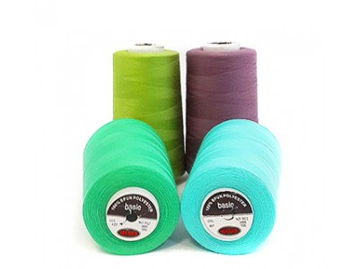 Нить швейная 100% PE 40/2 цв 127 желтый (боб 5000ярдов/12боб/120боб) МАХ