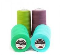 Нить швейная 100% PE 40/2 цв 153 красный темный (боб 5000ярдов/12боб/120боб) МАХ