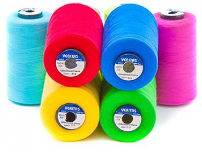 Нить швейная 100% PE 50/2 цв S-049 бирюзовый светлый (боб 5000ярдов/12боб/120боб) VERITAS