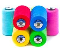 Нить швейная 100% PE 50/2 цв S-918 синий яркий (боб 5000ярдов/12боб/120боб) VERITAS