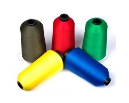 Нить текстурированная некруч 100% PE 150D/1 цв S-504 желтый яркий (боб 15000ярд/60 боб) VERITAS (ex.