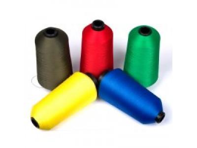 Нить текстурированная некруч 100% PE 150D/1 цв S-918 синий яркий (боб 15000ярд/60 боб) VERITAS (ex.