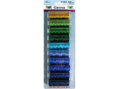 Нитки для вышивания GAMMA ассорти V150/2 10х200 ярд №3