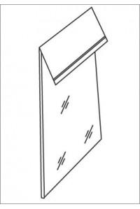 Пакет упаковочный п/п со скотч клапаном 30мкр 20*30+5 (уп 100шт) Люкс