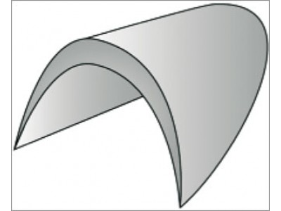 Подплечики необшитые втачные цв белый размер 10 (уп 400 пар) ВБ-10-А