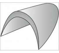 Подплечики обшитые втачные цв белый размер 10 (уп 100 пар) ВБ-10-А