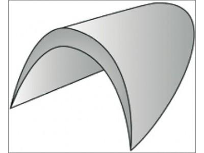 Подплечики обшитые втачные цв черный размер 16 (уп 100 пар) ВЧ-16-А