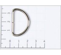 Полукольцо металл 25мм цв никель (уп 100,500,1000,500шт) №3193/Z28-5