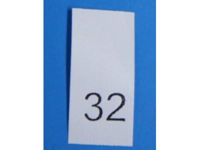 Р032ПБ 32 - размерник - белый (уп.200 шт)