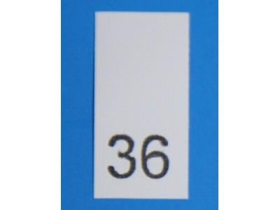 Р036ПБ 36 - размерник - белый (уп.200 шт)