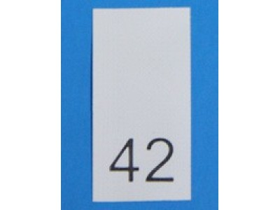 Р042ПБ 42 - размерник - белый (уп.1000 шт)