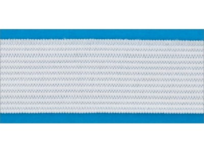 Резинка вязаная лайт цв белый 030мм (уп 25м) Ekoflex