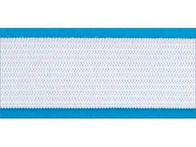 Резинка вязаная стандарт цв белый 050мм (уп 25м) Ekoflex