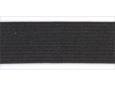 Резинка вязаная стандарт цв черный 050мм (уп 25м) Ekoflex