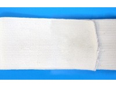 Резинка вязаная цв белый 040мм (уп 50м) АБ