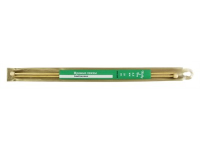 Спицы Hobby&Pro прямые бамбук 35см, 3,5мм (942235) БС