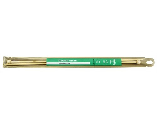 Спицы Hobby&Pro прямые бамбук 35см, 4,5мм (942245) БС