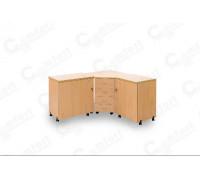 Стол для швейной машины и оверлока Комфорт-6 GOLD ( Пневмо)