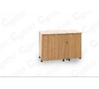 Стол для швейной машины и оверлока Комфорт-5N+ (с дополнительной поверхностью для раскроя ткани) GOLD ( Пневмо)