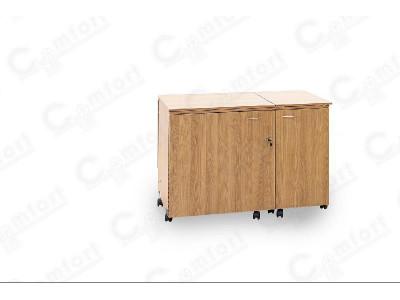 Стол для швейной машины и оверлока Комфорт-5N+ (с дополнительной поверхностью для раскроя ткани) ( Электро)